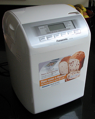 Panasonic SD255 bread maker out of the box