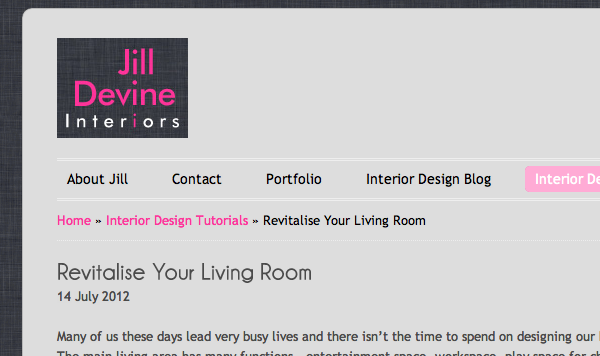 JILL DEVINE INTERIORS WEBSITE