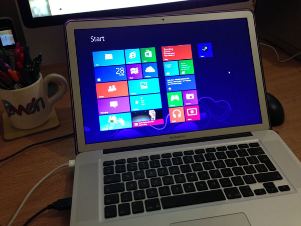 Windows 8 installed on a MacBook Pro